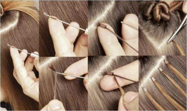 Изберете инструменти и материали за разширения за коса