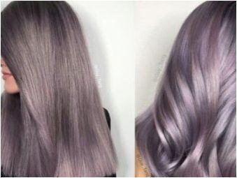 Лека лилава коса: на когото се вписват и как да изберат боята?
