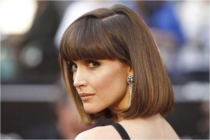 Подстригване на средна коса, които дават обем