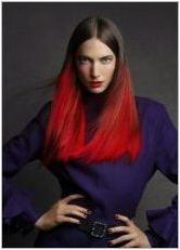Red Ombre: Характеристики и технология за оцветяване