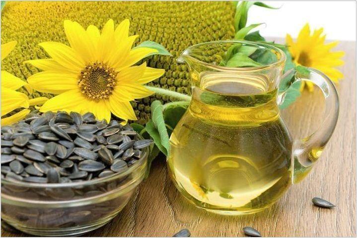 Характеристики на използването на слънчогледово масло масло