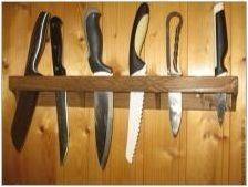 Стойка за ножове със собствените си ръце: методи за производство