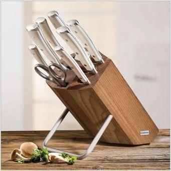 Стойки за ножове: разновидности и правила за избор