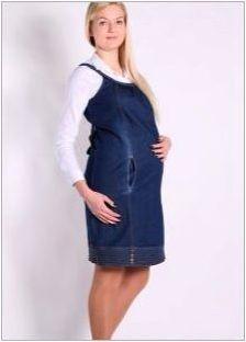 Деним sundress за бременни жени