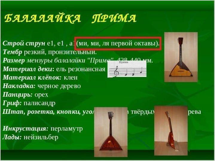 Характеристики на Balalaica Prius