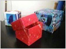 Кутия & # 171 + сърце & # 187 + в оригами