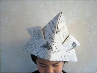 Опции за сгъване на оригами под формата на шапка