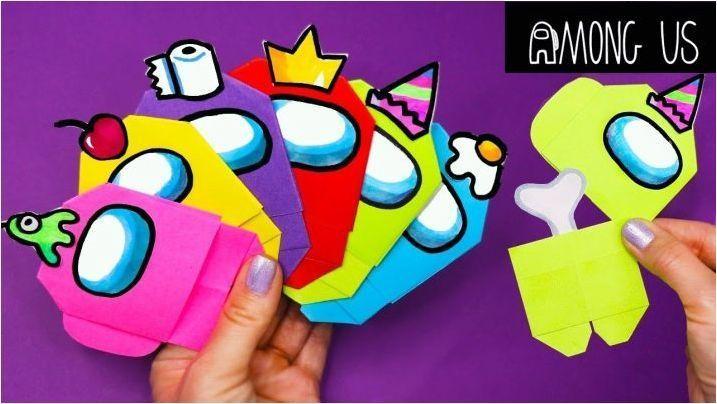 Сгънем оригами под формата на героите на играта сред нас