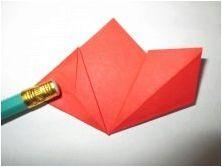 Сгъване на оригами за мама