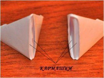 Създаване на лебед в техниката на оригами