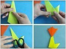 Как да направим цвете оригами?