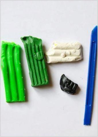 Как да извая зеле от пластилин?
