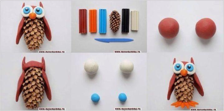 Как да направим пластилин бухал?
