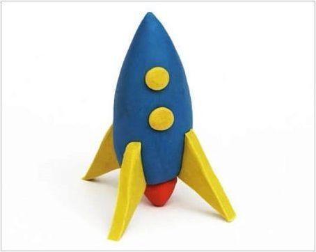Как да направим ракета на пластилин?