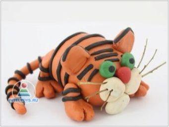 Как можете да направите тигър от пластилин?