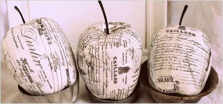 Плодове и зеленчуци от Papier-Mache