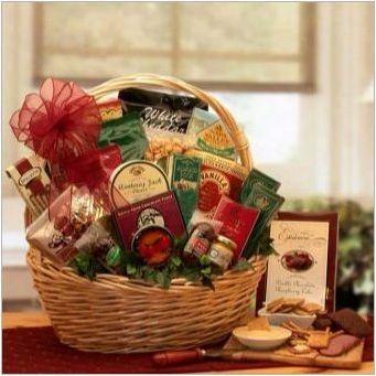 Кошница за хранителни стоки като подарък: Как да го сглобите и да го организираме?