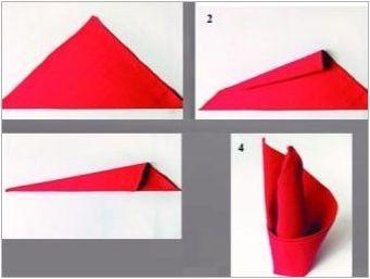 Как да сложите салфетки в чаша?