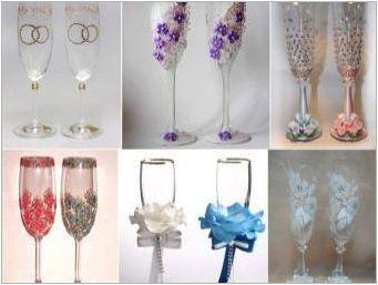 Как да организирате сватбени очила да го направите сами?