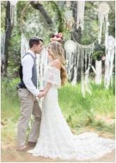 Сватба в стил & # 171 + Bocho & # 187 +: Описание и интересни идеи
