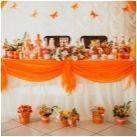 Сватба в жълти и оранжеви цветове: характеристики и методи