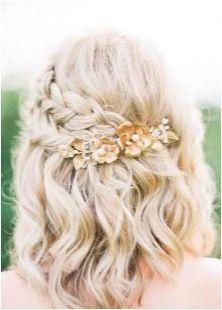 Варианти на сватбени прически с плитки за коса с различна дължина