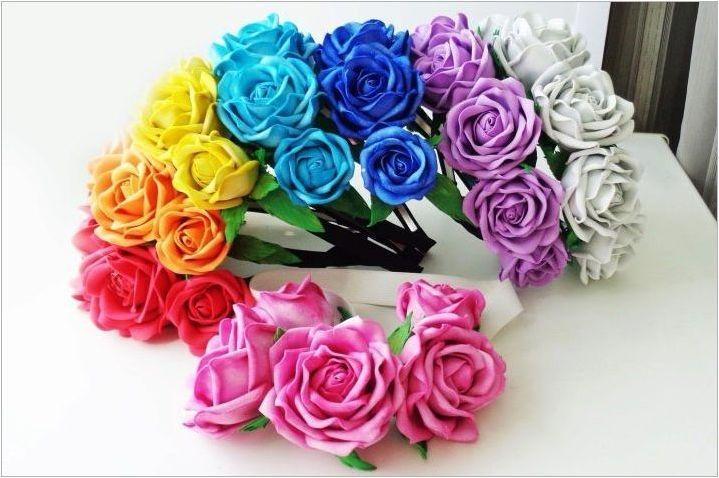 Направете малки цветя от фуамиран