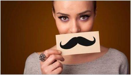 Ами ако момичето отглежда мустаци?