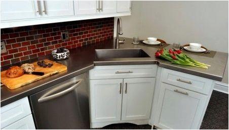 Ъглов шкаф за кухненска мивка: видове и селекция