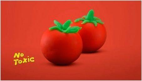 Как да направим домат от пластилин?