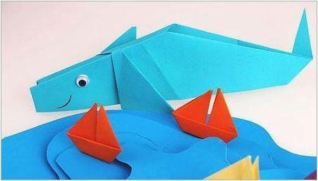 Как да направим оригами под формата на кит?