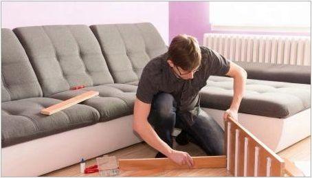 Как да разглобите ъгъла на дивана?