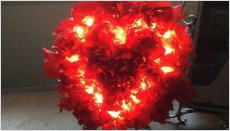 Как да си направим лампа под формата на сърце от изолона?