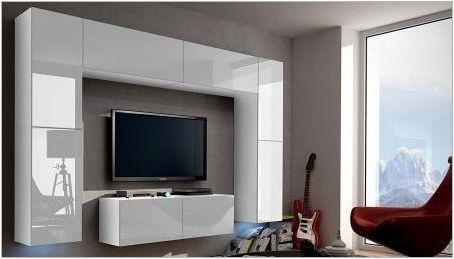 Лъскави стени в хола
