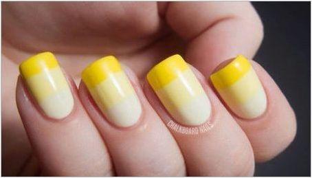 Маникюр с жълт гел лак