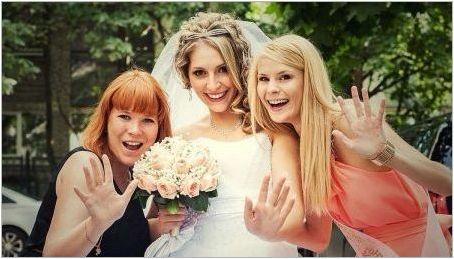 Прически за сватбата за приятелката на булката